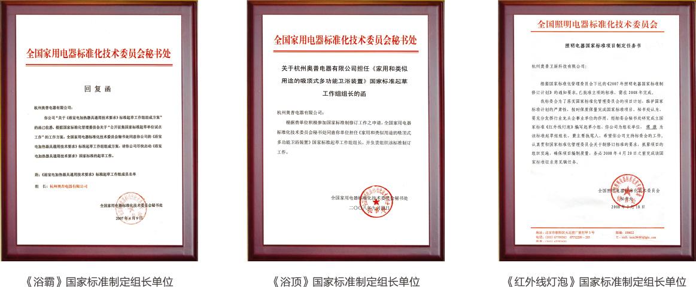 400多项国家专利<br>国家标准制定组长单位